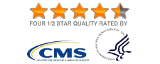 4.5 out of 5 Stars. Certified by CMS.
